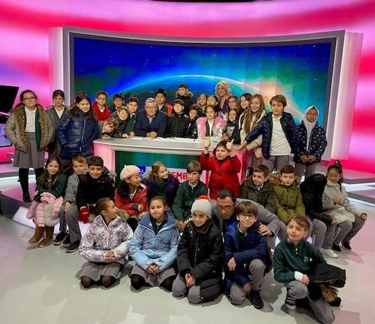 Students took a class trip to PRO TV